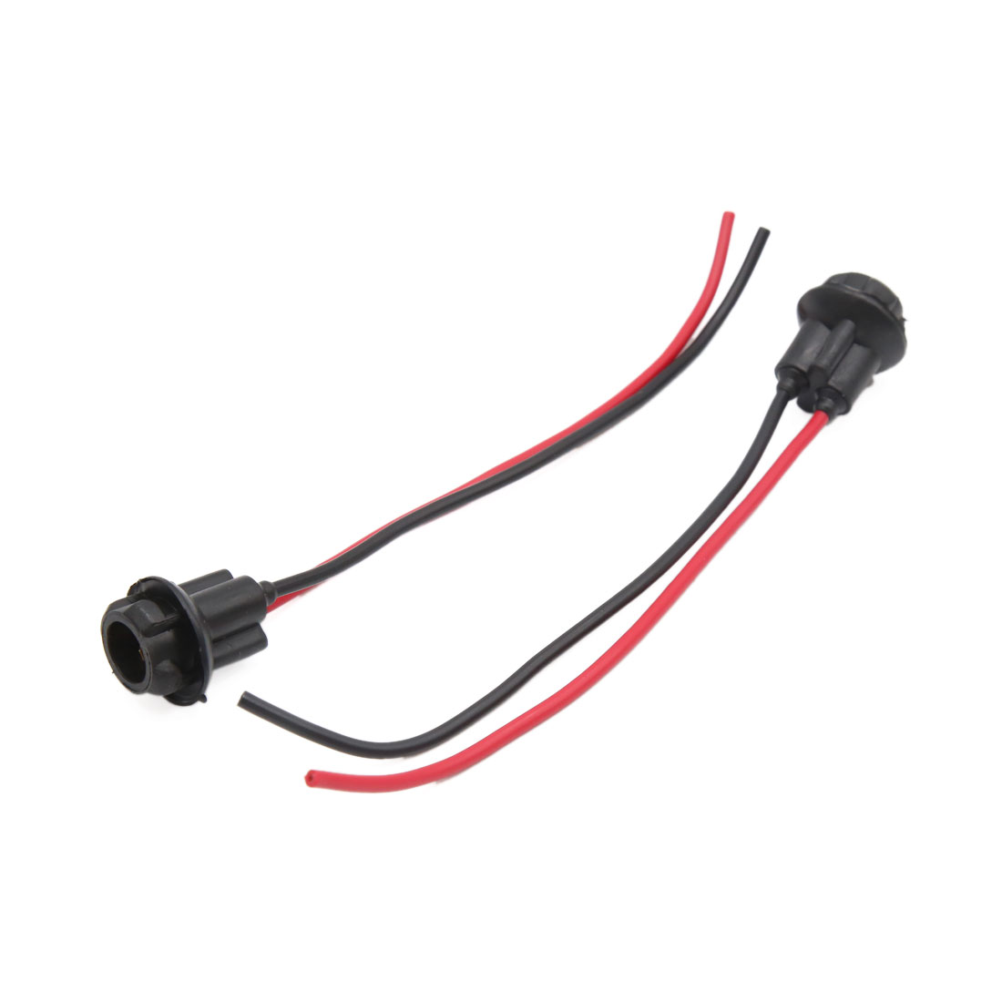 2pcs Black 2-wires T10 Brake Signal Light Bulb Harness Socket Connector for Car