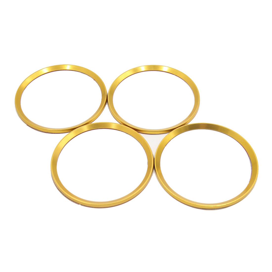 4pcs Gold Tone Car Wheel Center Hub Emblem Decorative Trim Ring Circle for BMW