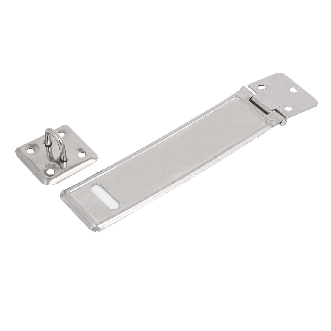 5.5-inch Length Metal Latch Gate Door Lock Safety Hasp Staple Silver Tone