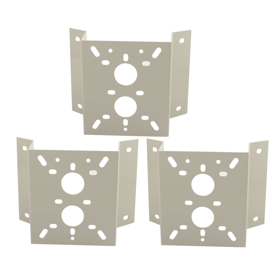 Trapezoid CCTV Security Camera Aluminum Alloy Wall Mount Stand Bracket 3Pcs