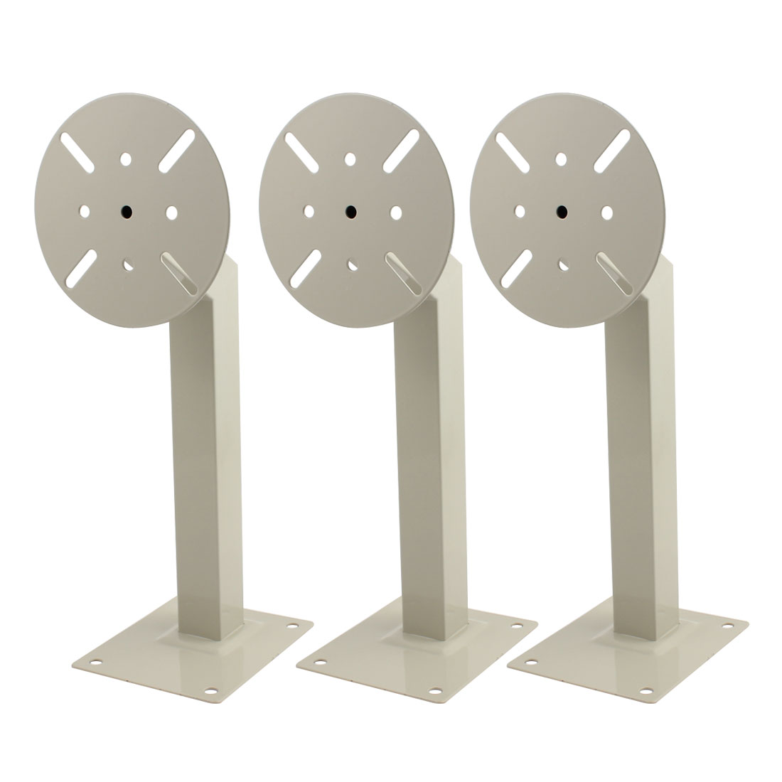 15.5cm x 12.5cm Base 40cm High Wall Mounting CCTV Security Camera Stand Bracket 3Pcs