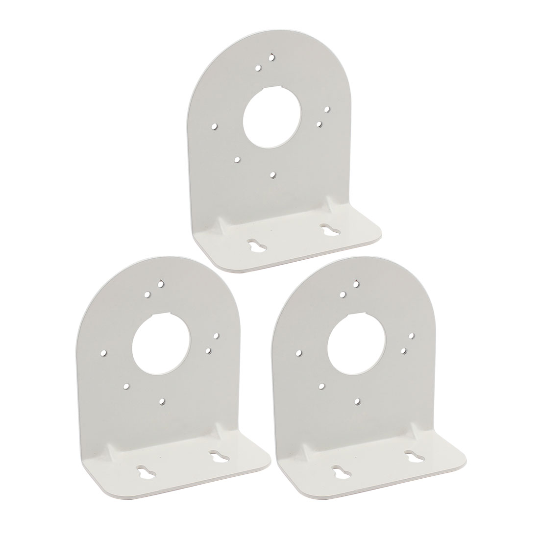 Silver Tone Right Angle CCTV Dome Camera Wall Mount Bracket 115x103x50mm 3Pcs