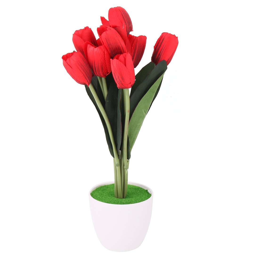 Restaurant Indoor DIY Handcraft Decor Artificial Simulation Tulips Flower Red