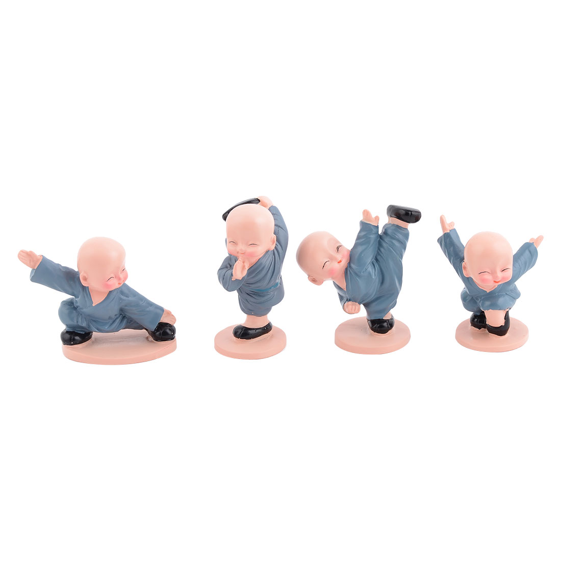Party Gift Resin Chinese Kung Fu Monk Design Desk Table Decor Landscape 4 in 1