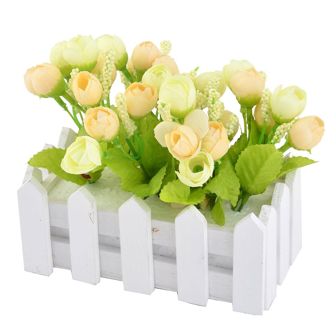 Wedding Fabric DIY Desktop Table Decorative Emulational Artificial Pot Flower Beige