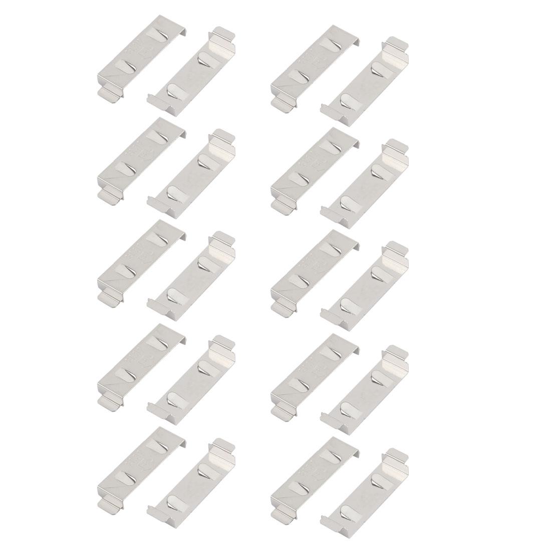 20Pcs Silver Tone Metal CR2032/CR2025 Battery Plate Shrapnel Cilp