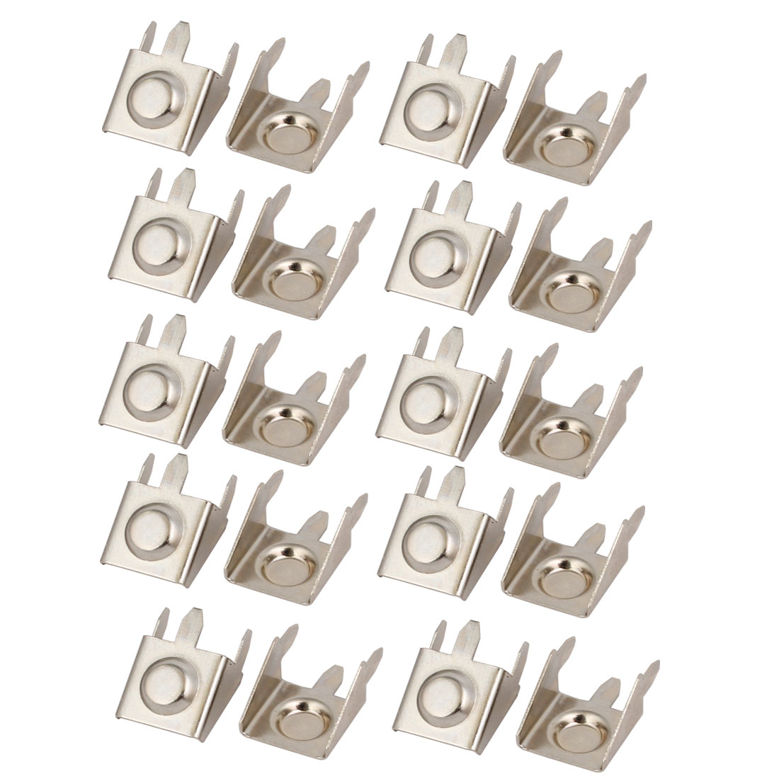 20Pcs Silver Tone Metal AAA/N/12V Battery Positive Negative Contact Plate Clip