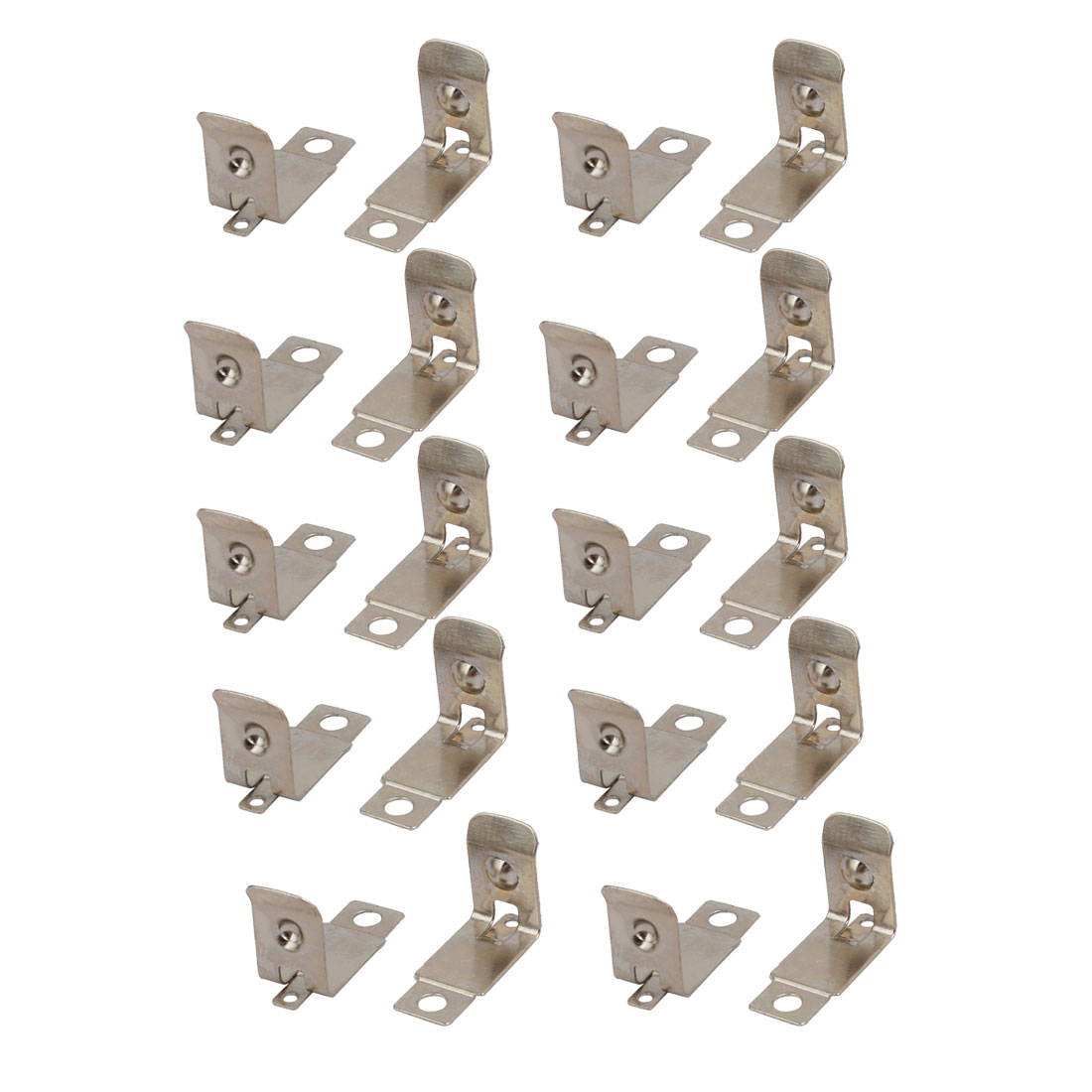 20Pcs Silver Tone ATM Mounted AAA/N/12V Battery Positive Negative Contact Plate