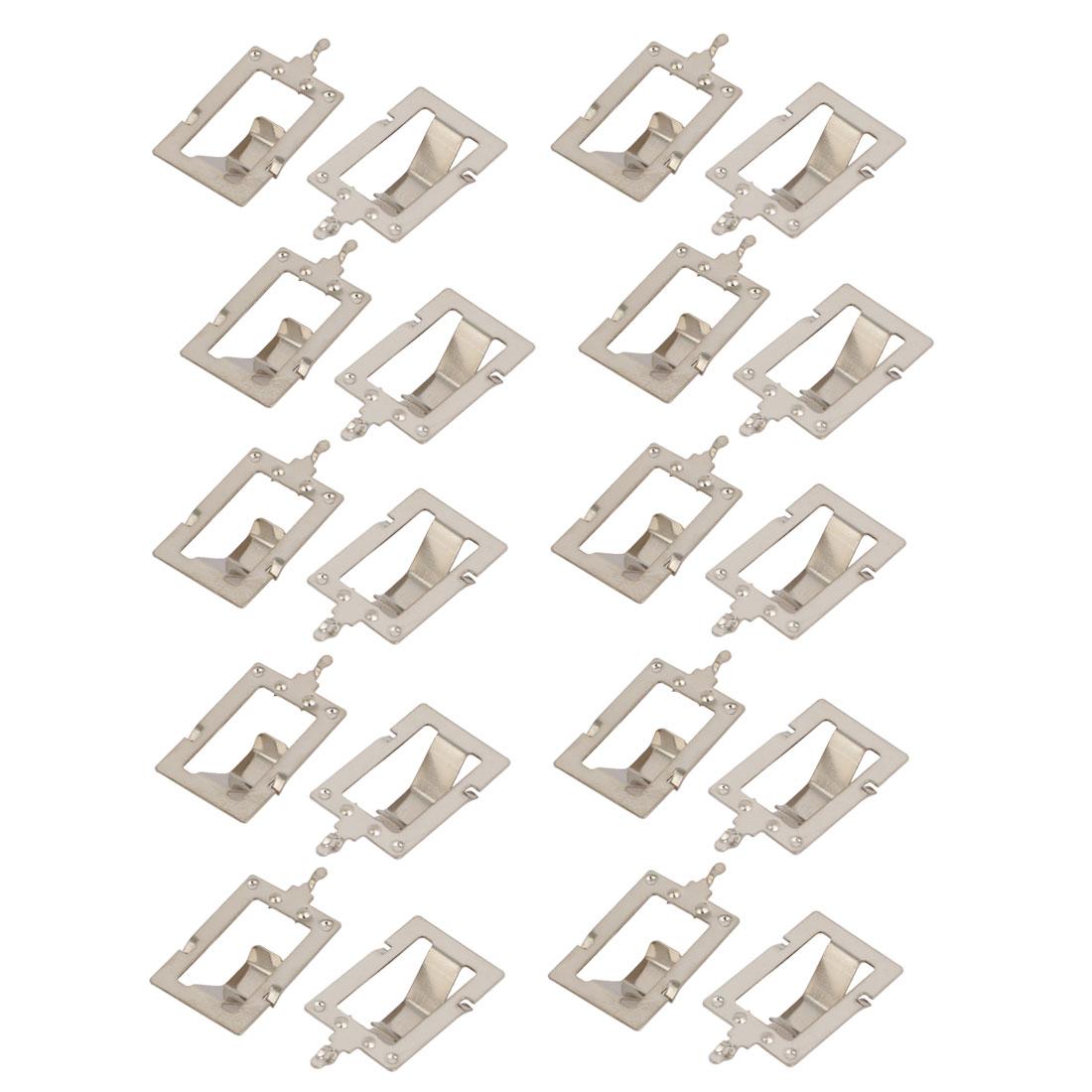 20Pcs Silver Tone Metal 18650 Battery Positive Negative Contact Shrapnel Plate