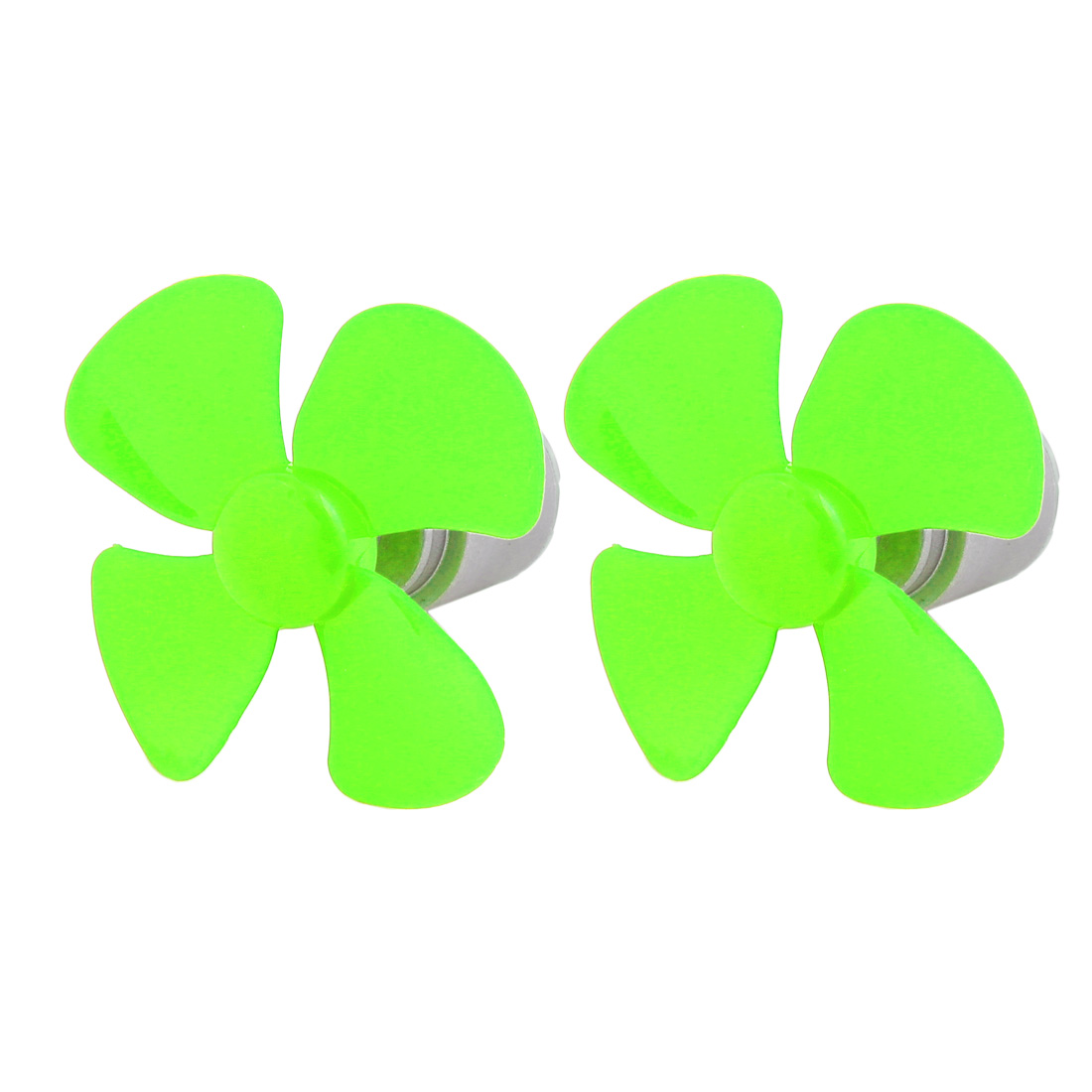 2pcs DC 3V 0.13A 6500RPM Green Strong Force Motor 4 Vanes 56mm Dia Propeller for RC Aircraft
