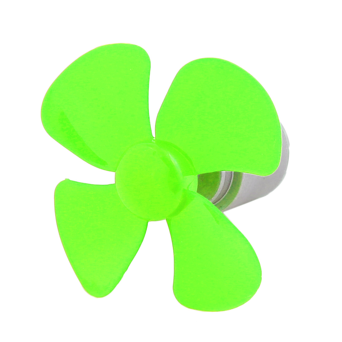 DC 3V 0.13A 21500RPM Strong Force Motor 4 Vanes 56mm Green Propeller for RC Aircraft