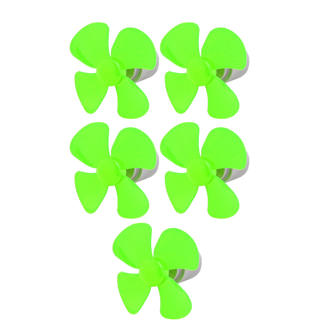 5pcs DC 3V 0.13A 12500RPM Strong Force Motor 4 Blades 56mm Green Propeller for RC Aircraft