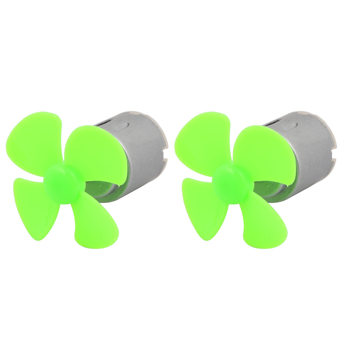 2pcs DC 3V 0.13A 13000RPM Strong Force Motor 4 Blades 40mm Green Propeller for RC Aircraft
