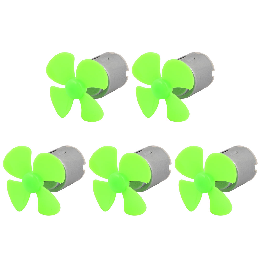 5Pcs DC 5V 6600RPM Large Torque Motor 4-Vane 40mm Dia Propeller Green for RC Model