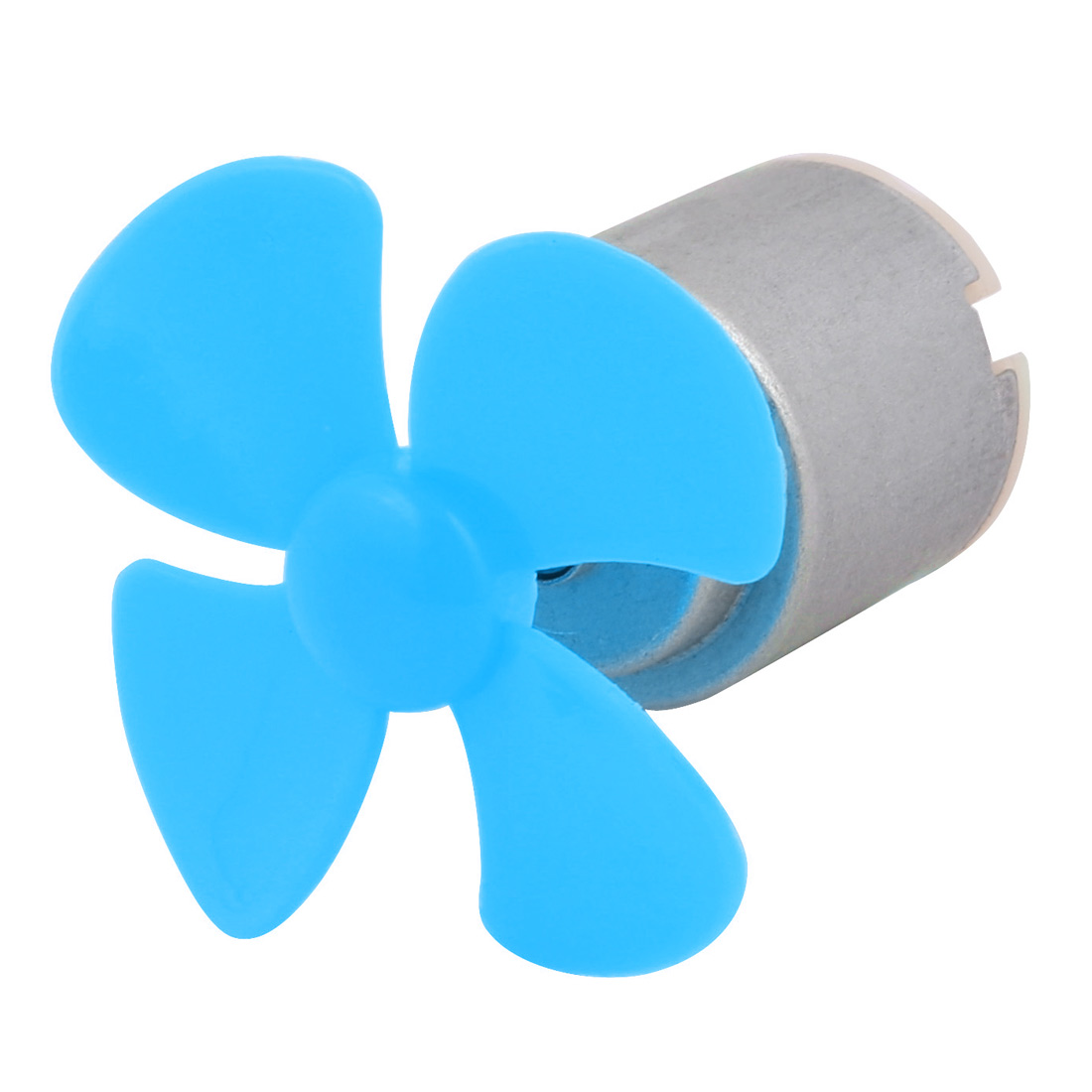 DC 5V 9200RPM Large Torque Motor 4-Vane 40mm Dia Propeller Blue for RC Model