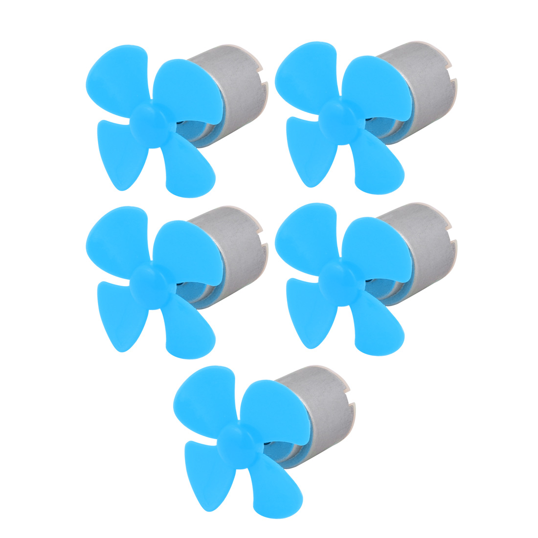 5Pcs DC 5V 12000RPM Large Torque Motor 4-Vane 40mm Dia Propeller Blue for RC Model