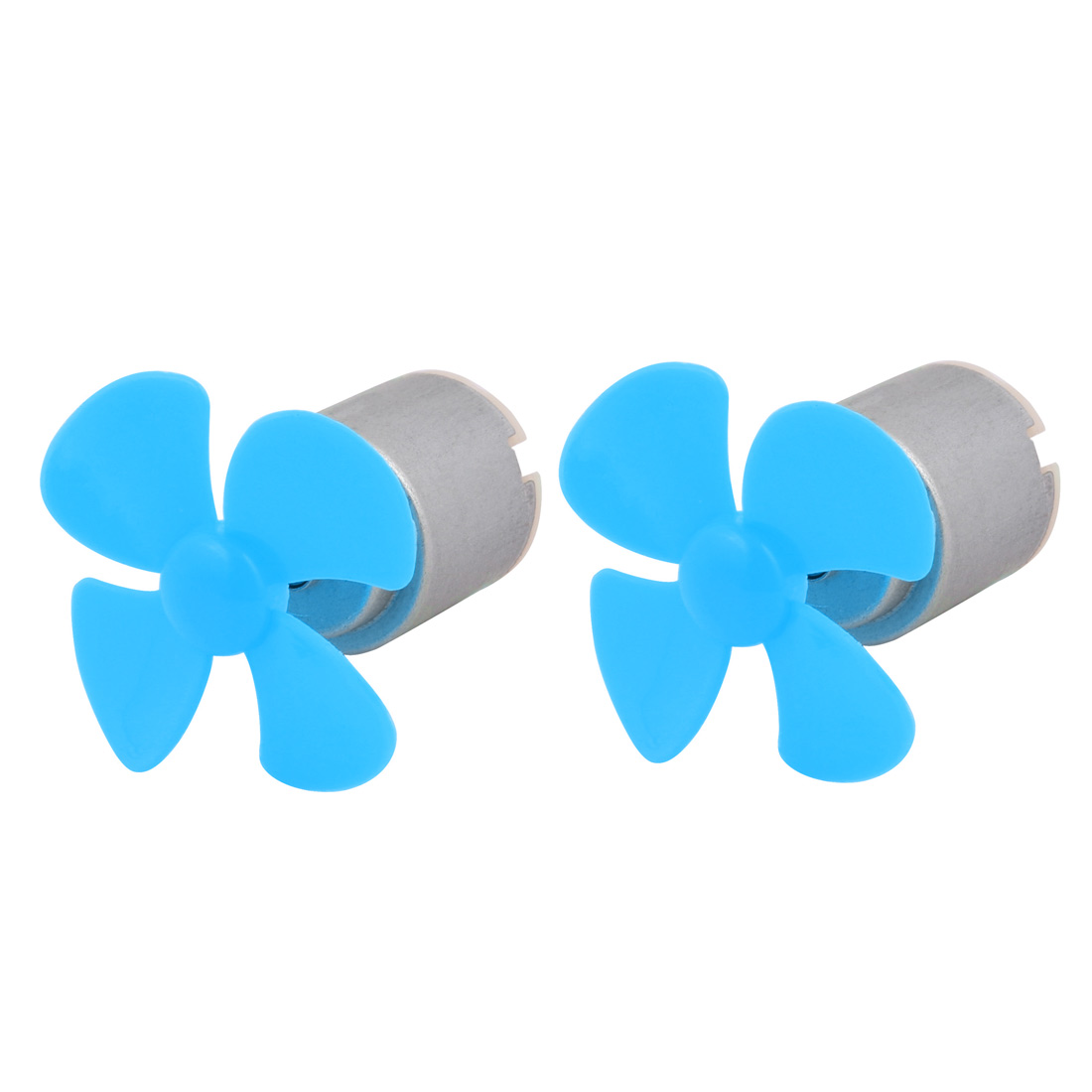 2pcs DC 3V 0.13A 6500RPM Strong Force Motor 4 Blades 40mm Blue Propeller for RC Aircraft