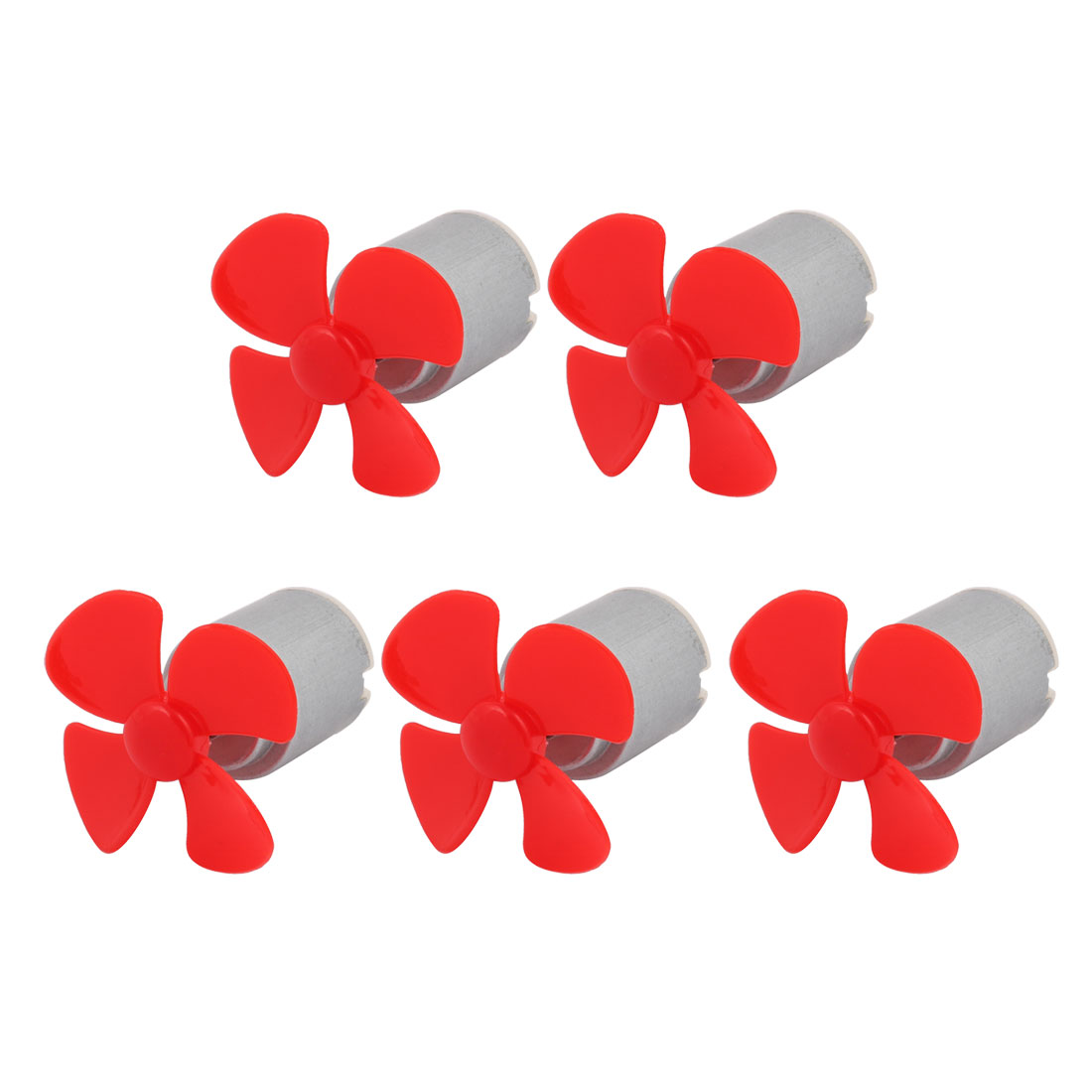 5pcs DC 3V 0.13A 6600RPM Strong Force Motor 4 Vanes 40mm Red Propeller for RC Aircraft
