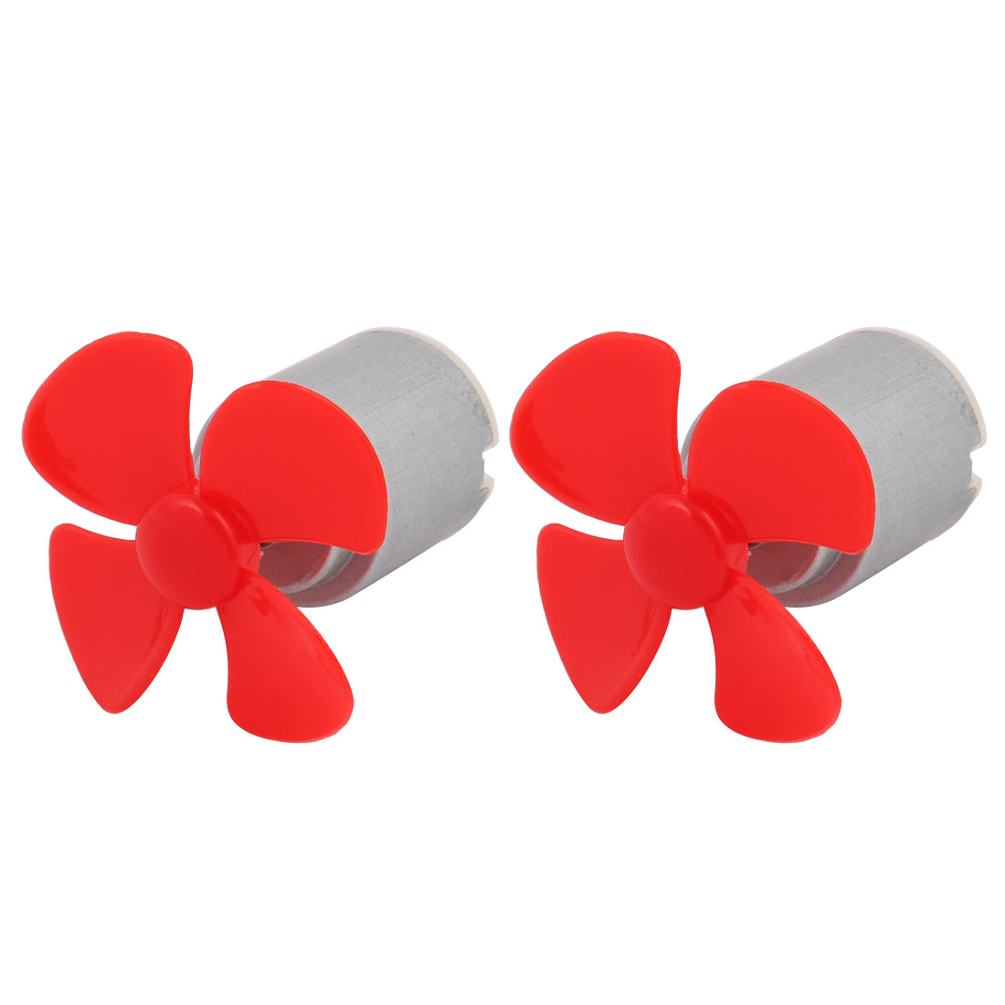 2pcs DC 1.5V 0.13A 3800RPM Strong Force Motor 4 Vanes 40mm Red Propeller for RC Aircraft