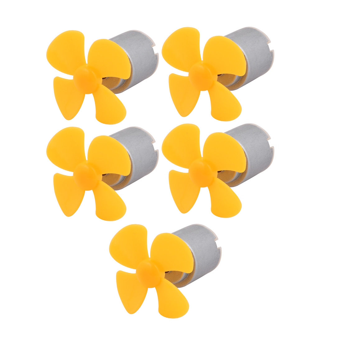 5pcs DC 3V 0.13A 14000RPM Strong Force Motor 4 Vanes 40mm Yellow Propeller for RC Aircraft