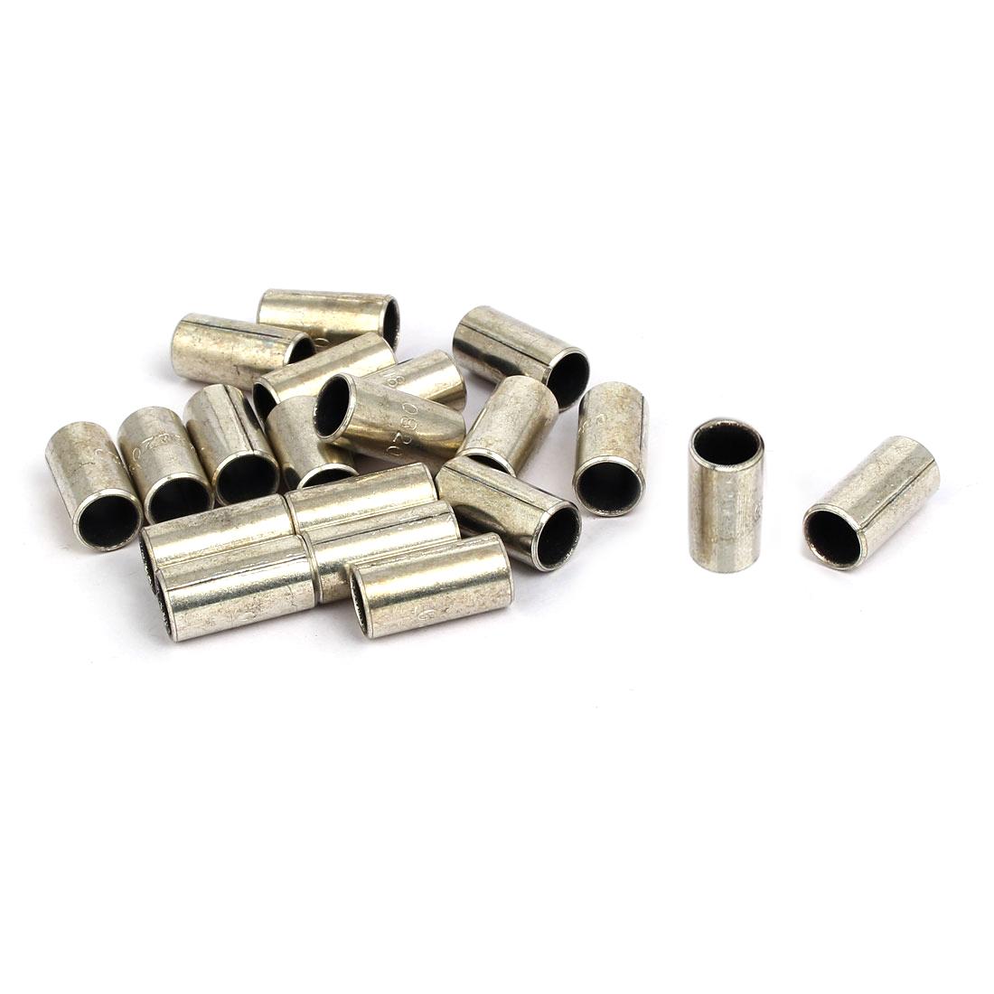 10mmx8mmx20mm Self-lubricating Oilless Bearing Sleeve Composite Bushing 20pcs