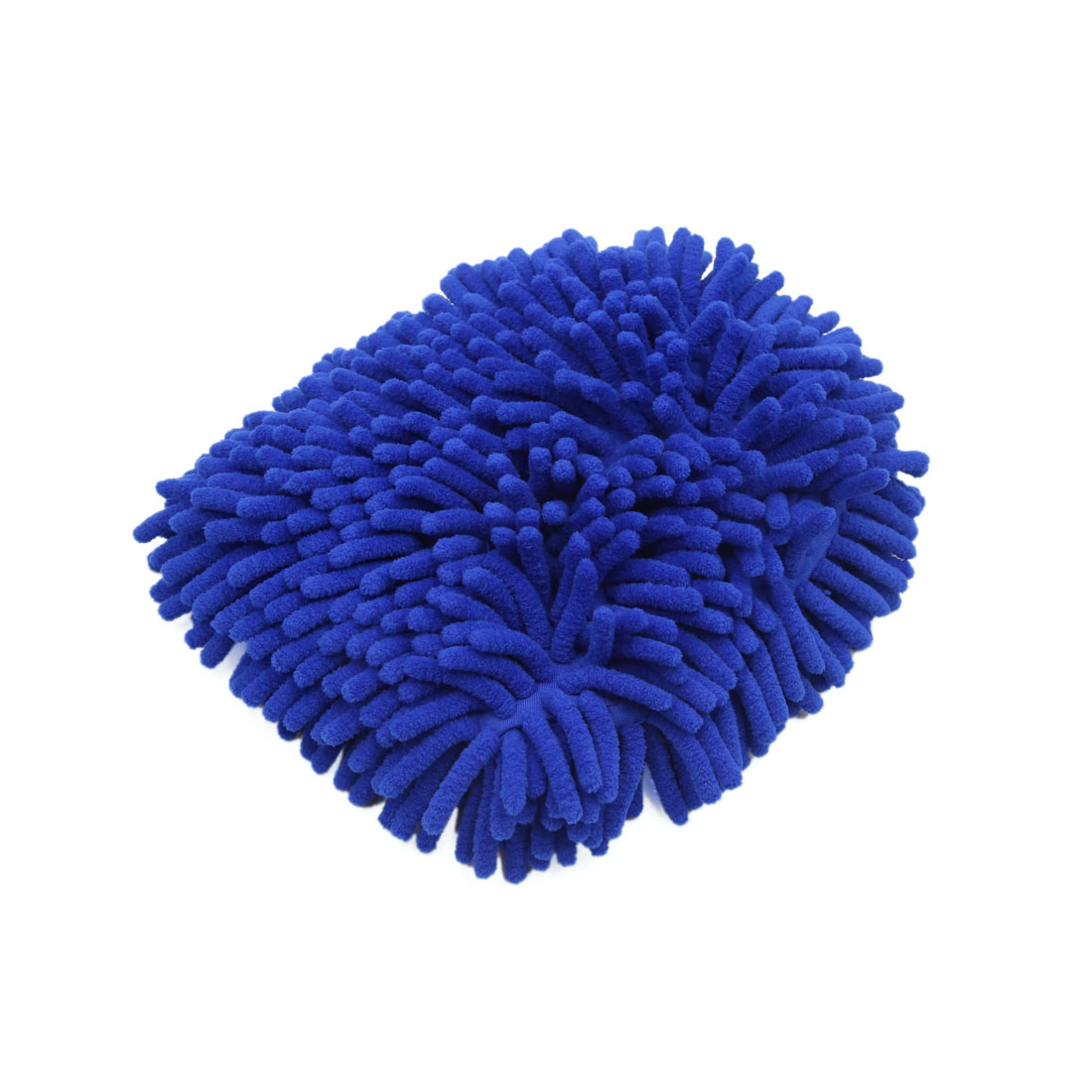 Dark Blue Double Side Microfiber Chenille Wash Mitt Cleaning Glove for Auto Car
