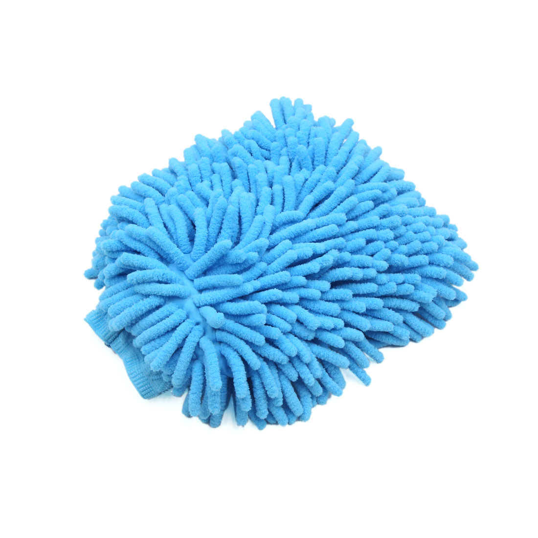 Blue Double Side Microfiber Chenille Wash Mitt Cleaning Glove for Auto Car
