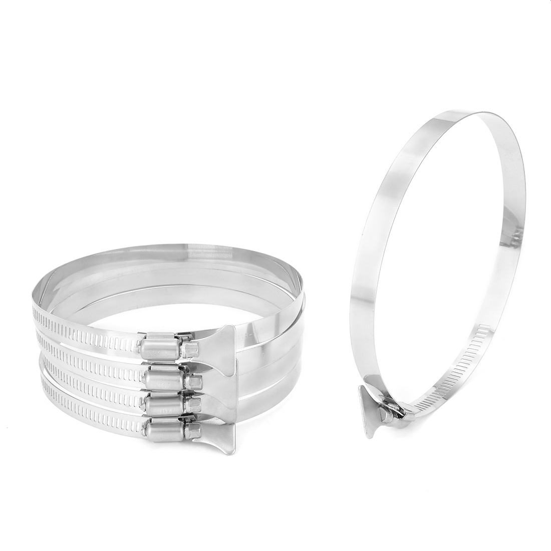 118mm-140mm Clamping Range 304 Stainless Steel Butterfly Hose Clamp 5pcs