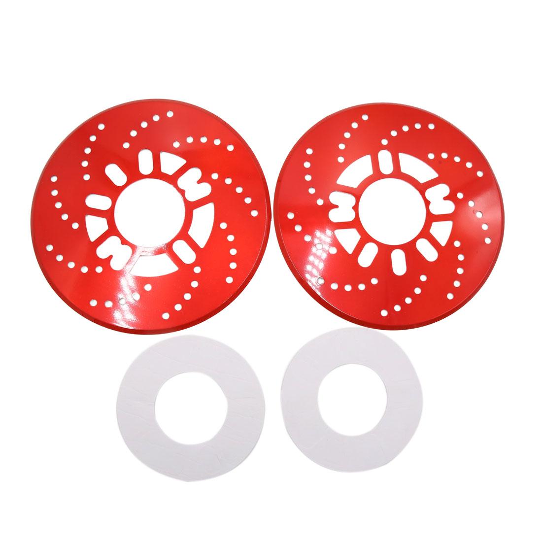 2Pcs Red Metal Vehcile Car Wheel Disc Brake Racing Cover Decoration