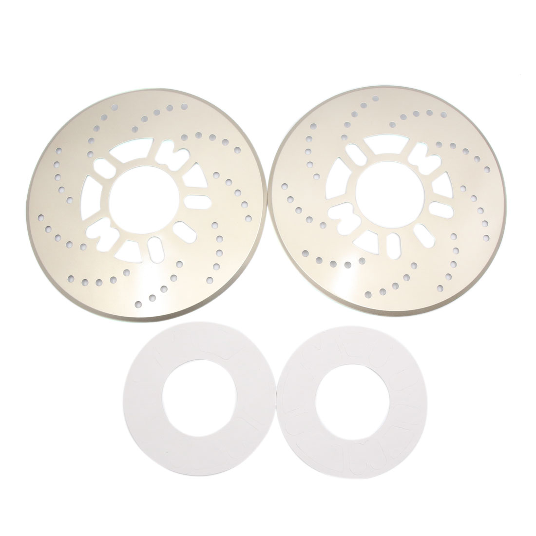 2Pcs Gold Tone Metal Vehcile Car Wheel Disc Brake Racing Cover Decoration