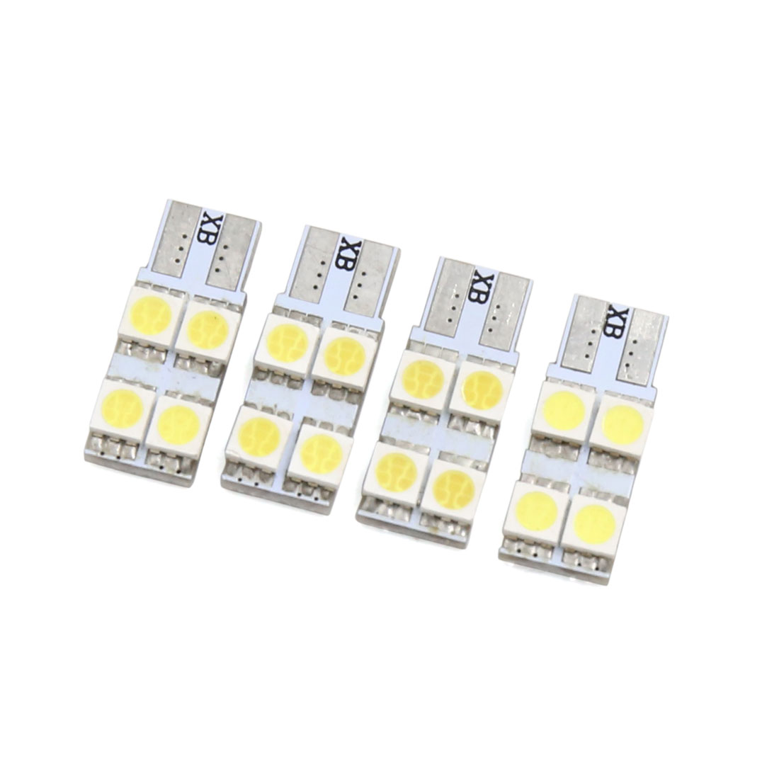 4Pcs White T10 4 Led 5050 Car Dashboard Light Lamp Interior 2825 158 192 194