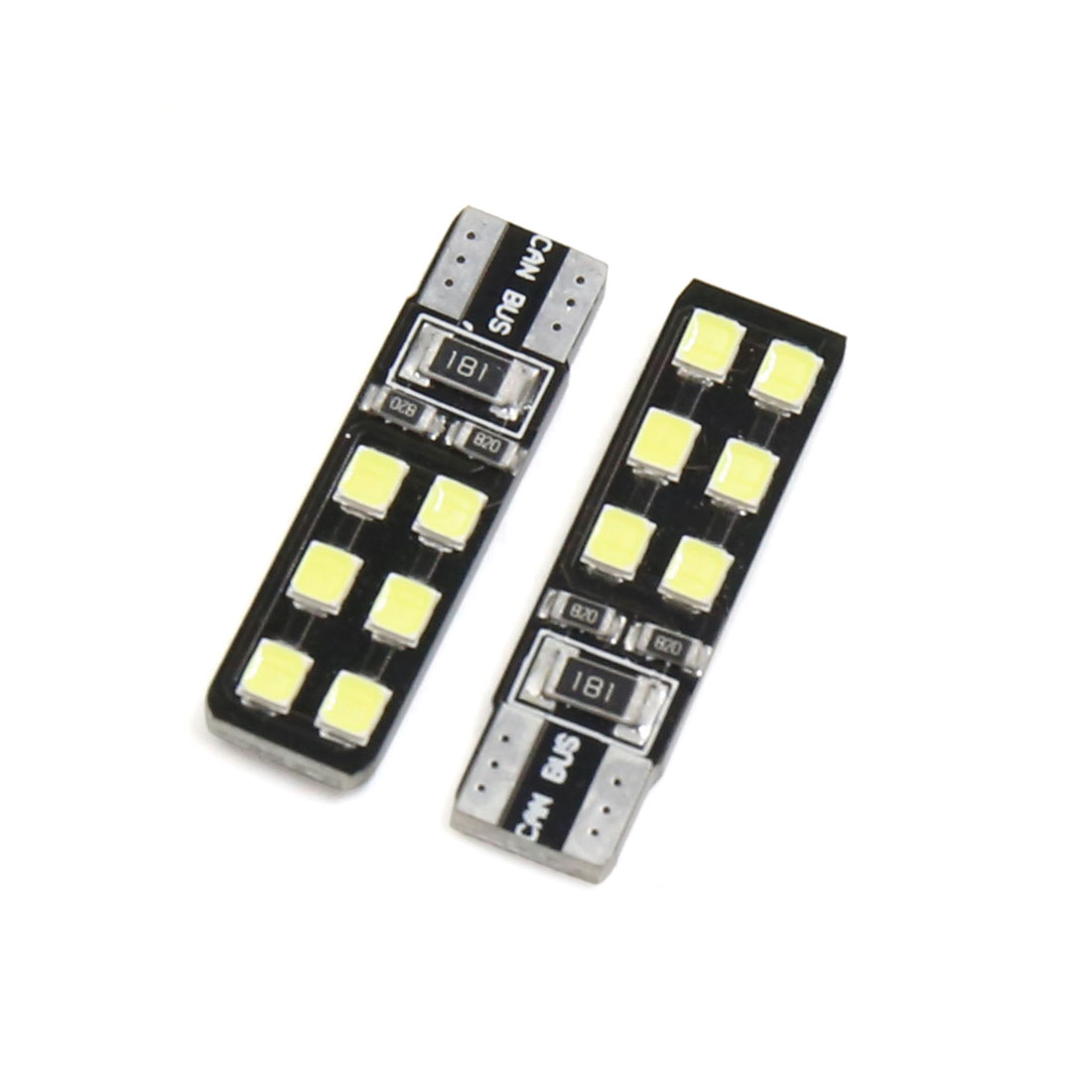2PCS Canbus T10 White COB LED Car Auto Side Wedge Dashboard Light Interior