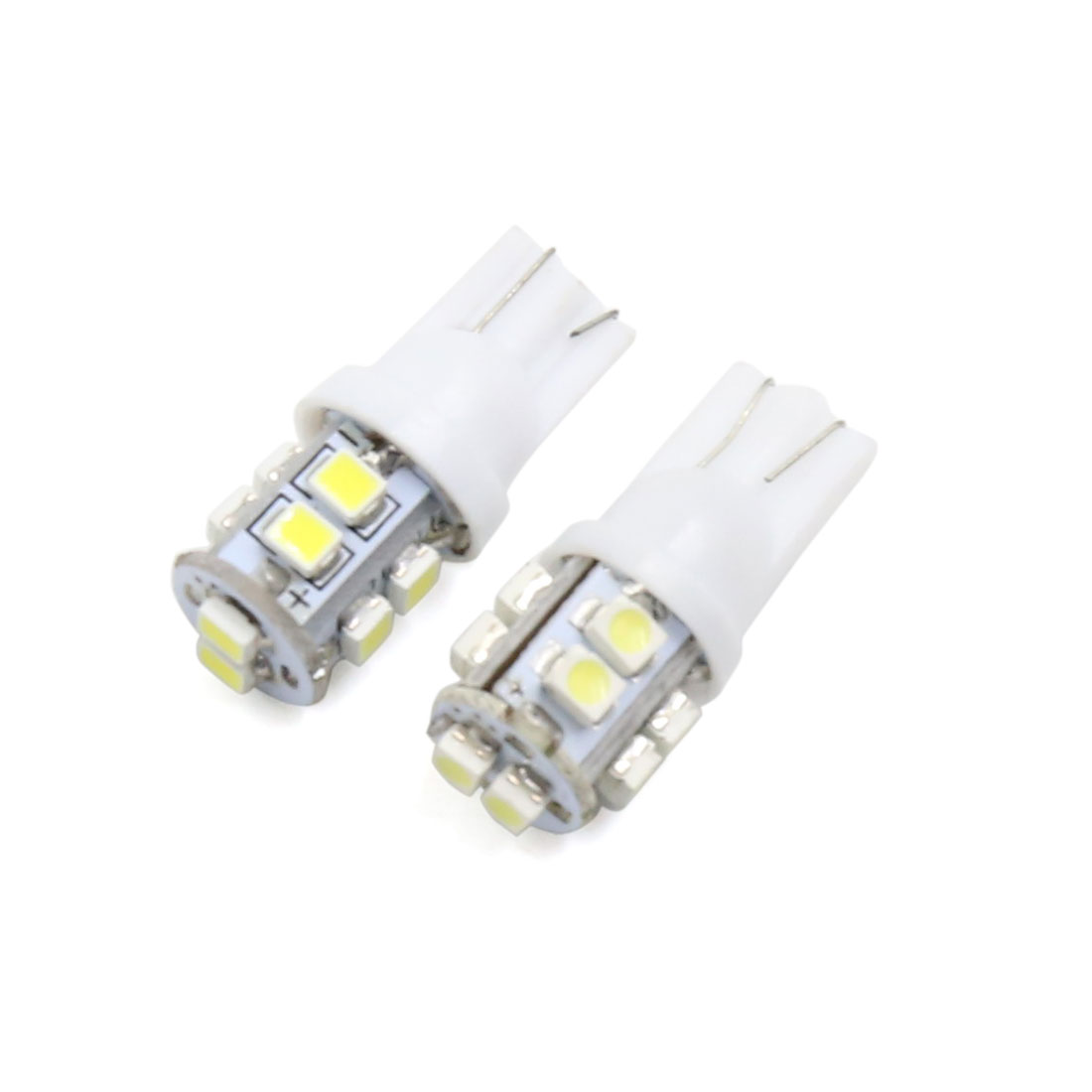 2Pcs White T10 10 Led Car Dashboard Light Lamp Interior W5W 2825 158 192 194