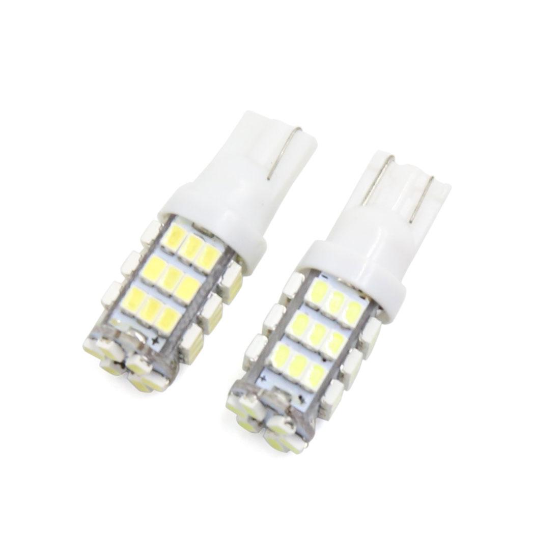 2Pcs White T10 42 Led Car Vehcile Dashboard Light Lamp Interior 2825 158 192 194