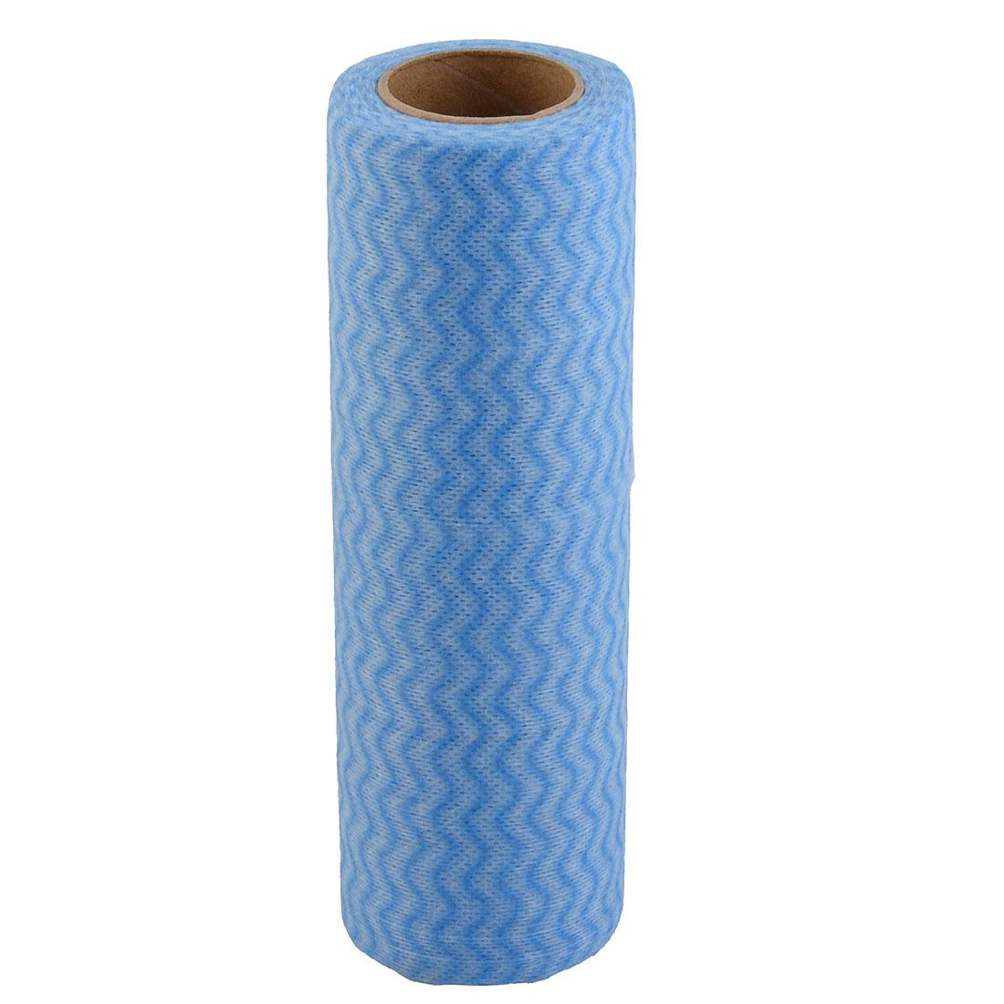 Kitchen Non-woven Fabric Wave Pattern Pot Dish Washable Cleaning Cloth Roll Blue