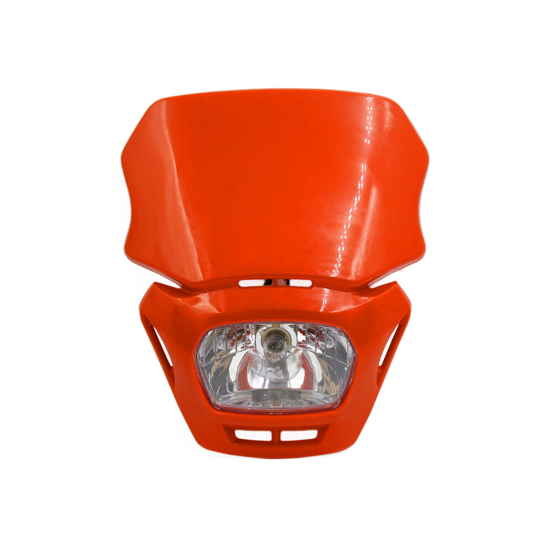 Orange Shell Motorcycle Street Fighter Front Headlight Fairing Lamp Light Yellow