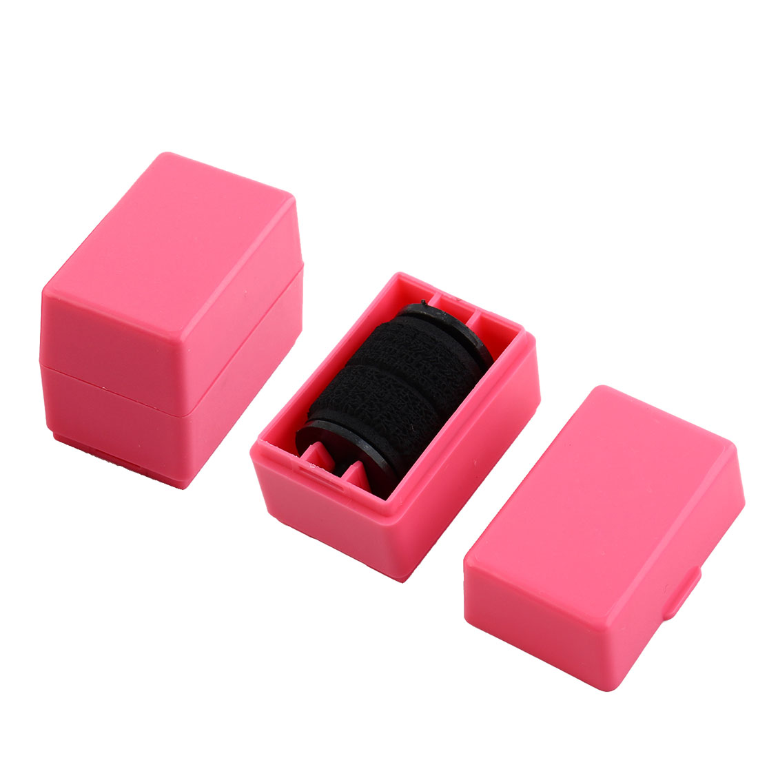 Security Hide Confidential Privacy Identity ID Protection Self Inking Rolling Stock Stamp Pink 2pcs