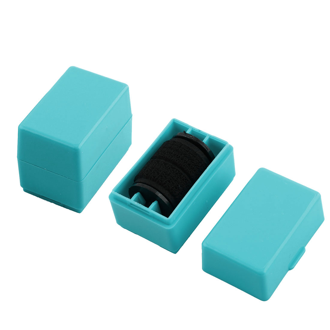 Security Hide Confidential Privacy Identity ID Protection Self Inking Rolling Stock Stamp Sky Blue 2pcs