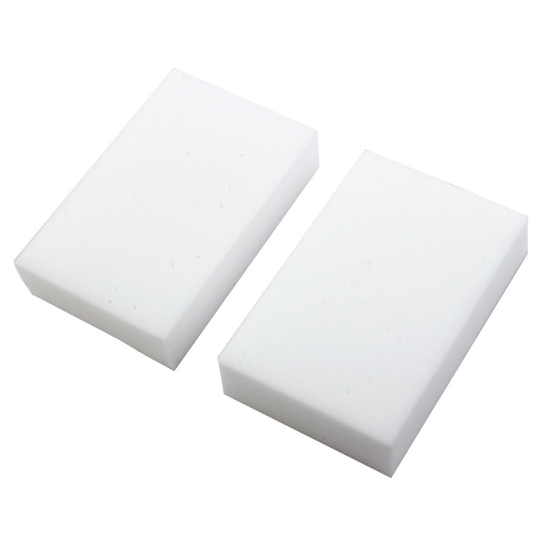 Home Furniture Office Boat Auto Car Sponge Block Cleaning Tool Cleaner Brush Pad White 2 Pcs