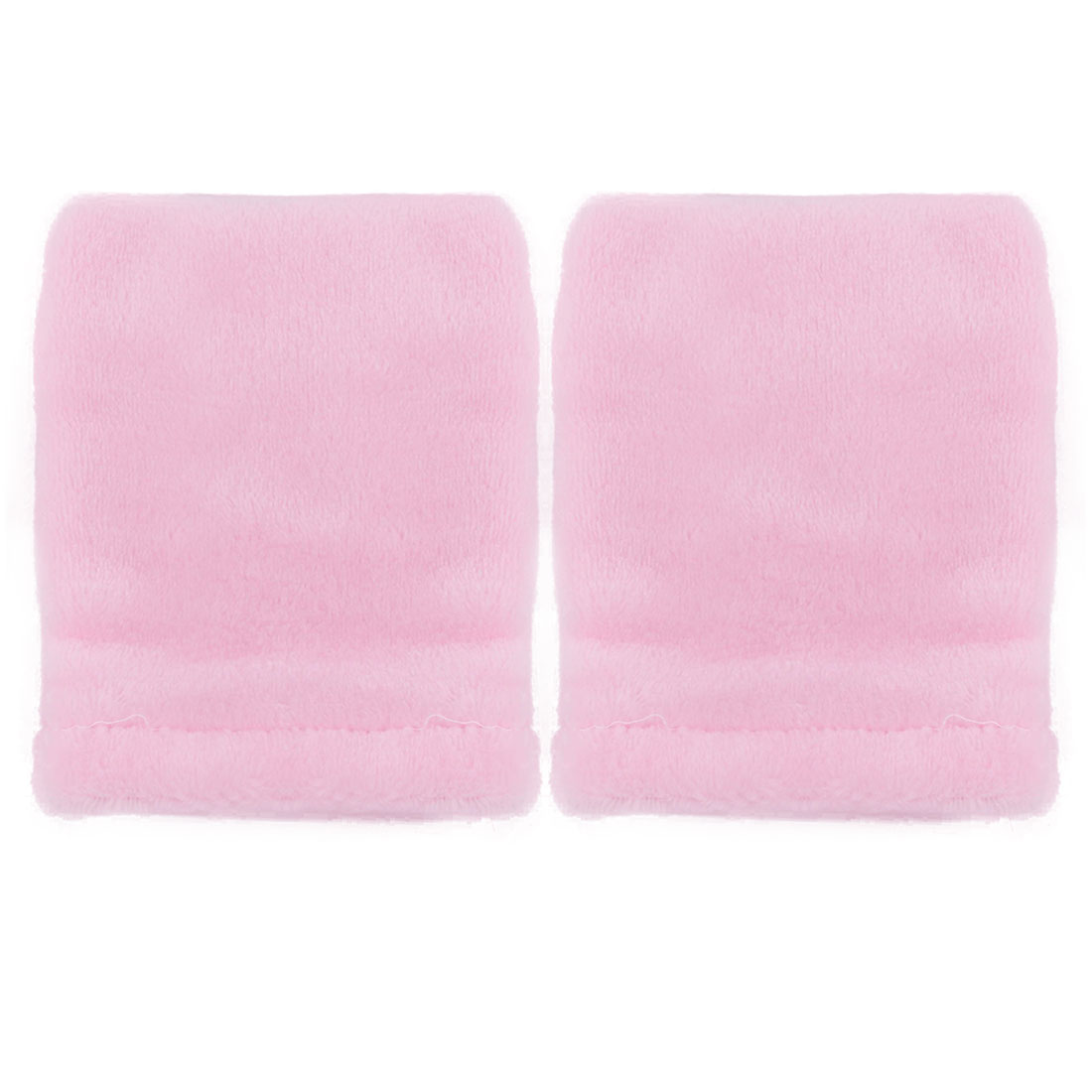 Home Coral Fleece Shoes Dust Remover Cleaner Washing Cleaning Mitt Glove Pink 2pcs