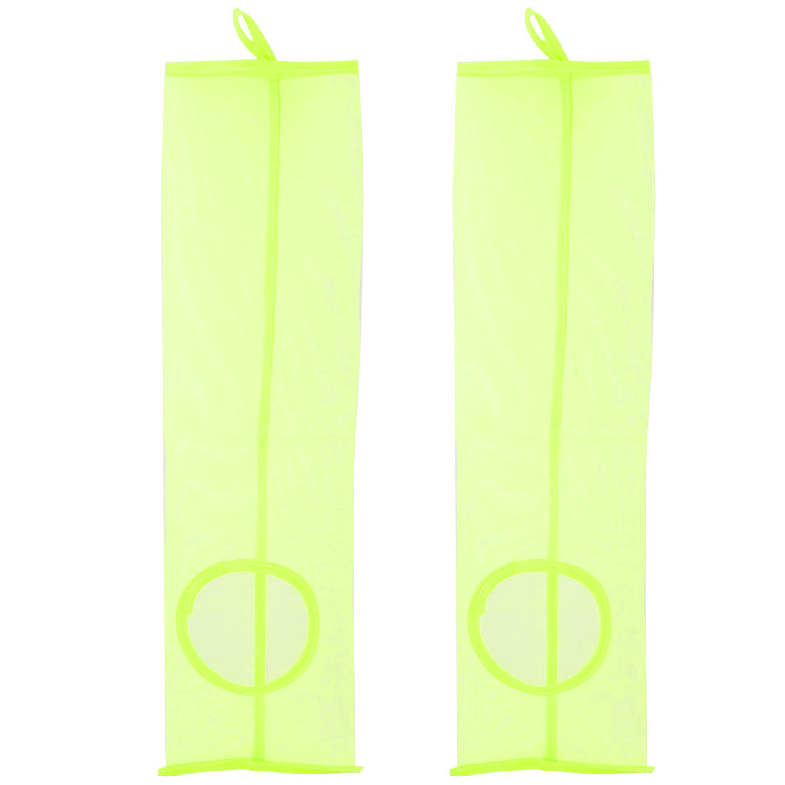 Home Bathroom PVC Mesh Wall Hanging Grocery Bag Holder Storage Container Green 2pcs