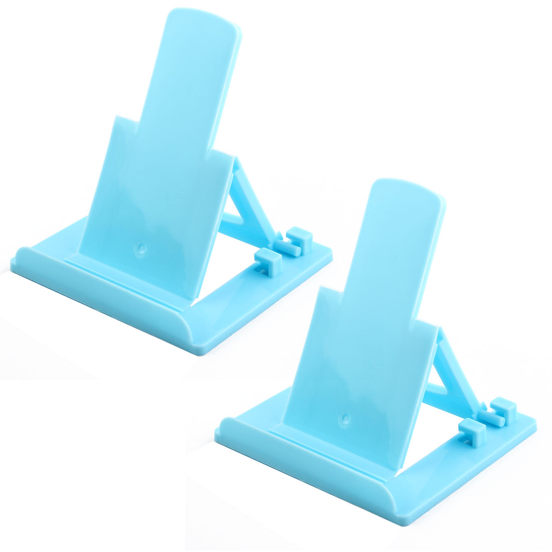 Universal Adjustable Phone Stand Holder Cradle Sky Blue 2pcs for Mp4 Mobile Phone