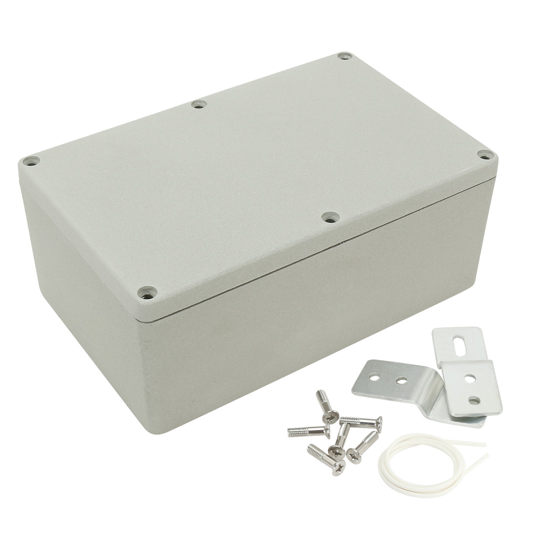 "7.4""x4.7""x3""Aluminum Junction Box Universal Enclosure w Two Horns Waterproof"