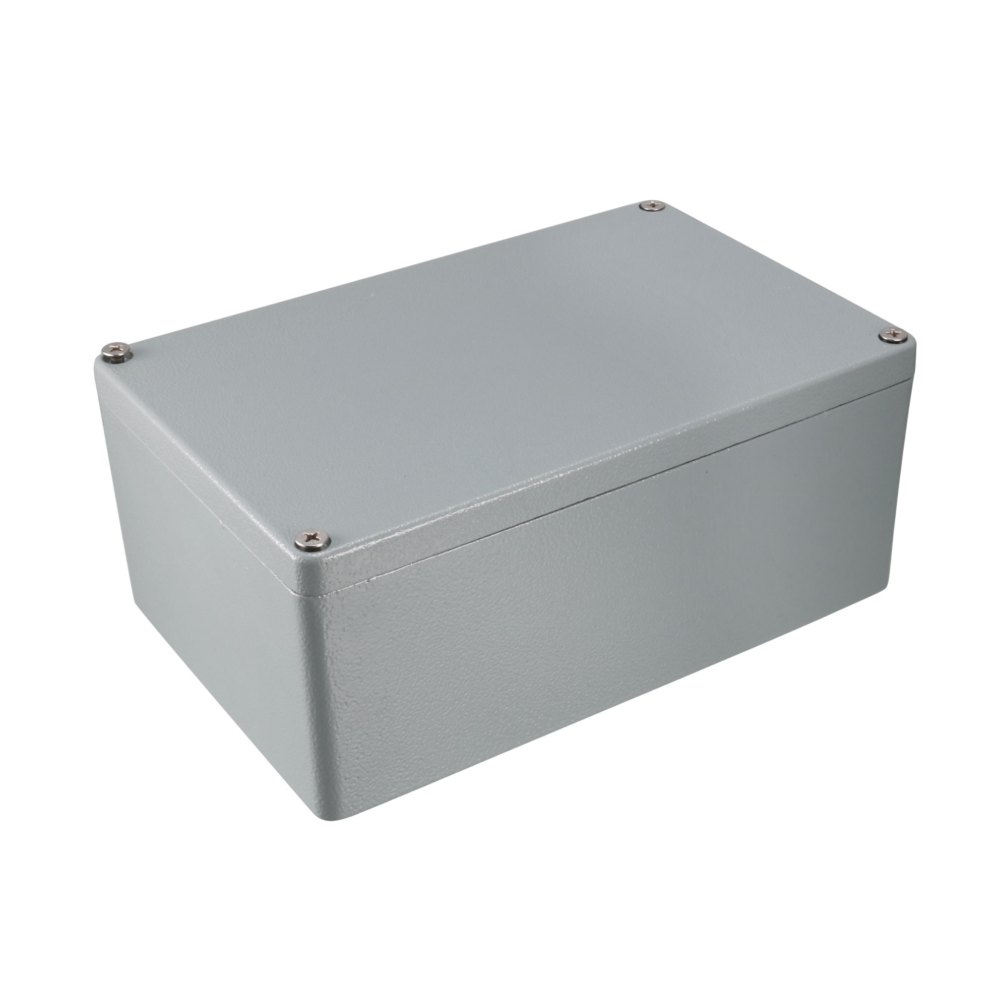 "7.4""x4.7""x3""(188mmx120mmx78mm) Aluminum Junction Box Universal Electric Project Enclosure w Two Horns"