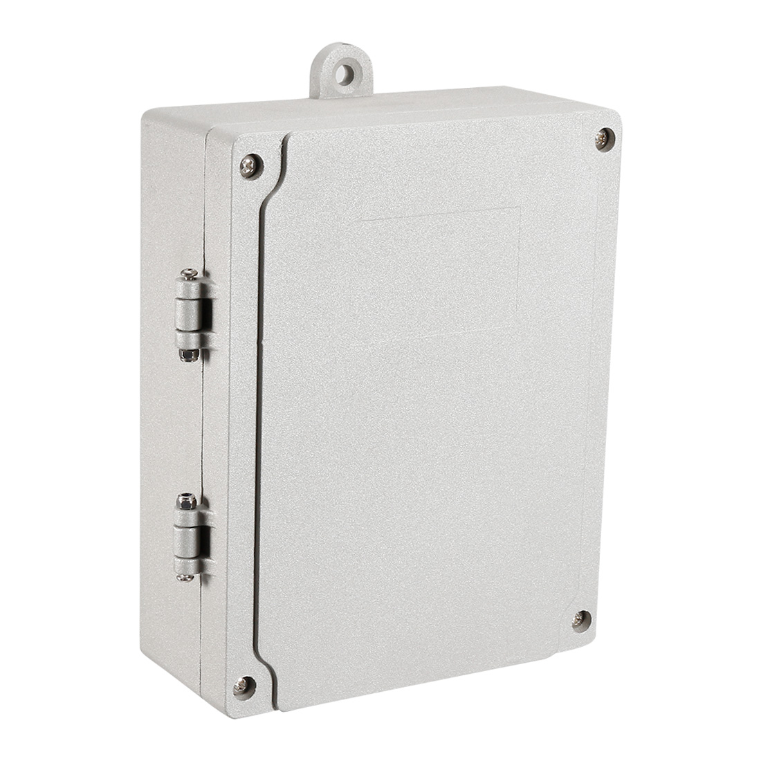 """7.1""""x5.5""""x2.2""""(180mmx140mmx55mm) Aluminum Clamshell Junction Box Universal Electric Project Enclosure w Two Horns"""