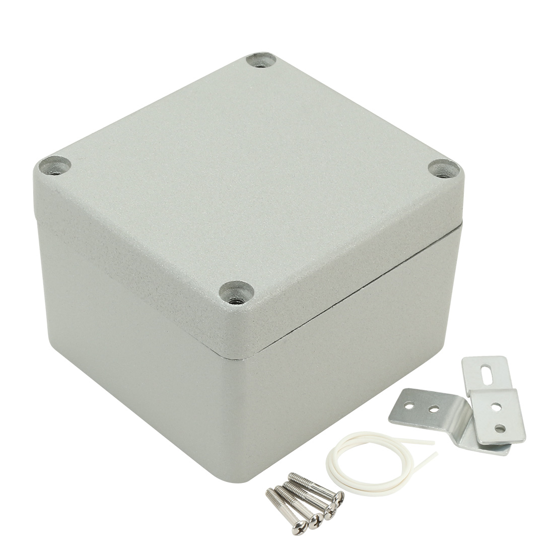 "3.2""x3""x2.24""(80mmx76mmx57mm) Aluminum Junction Box Universal Electric Project Enclosure w Two Horns"