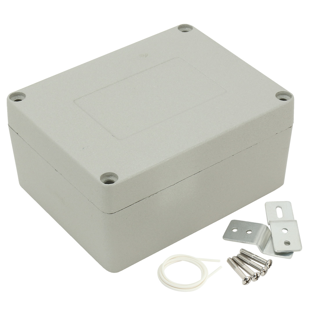 """4.5""""x3.5""""x2.3""""(115mmx90mmx58mm) Aluminum Junction Box Universal Electric Project Enclosure w Two Horns"""