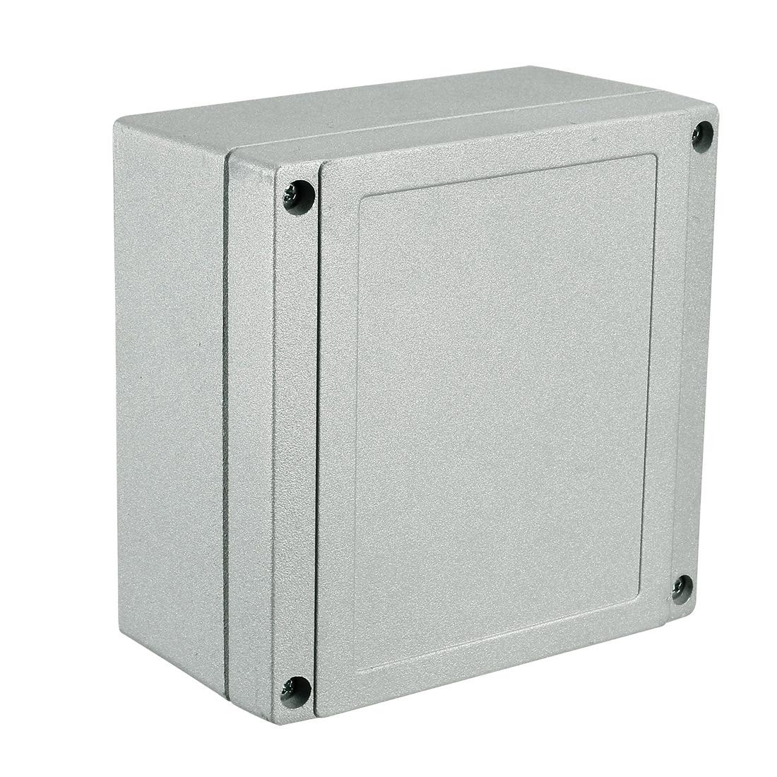 "5.5""x5.5""x2.95""Aluminum Junction Box Universal Enclosure w Two Horns"