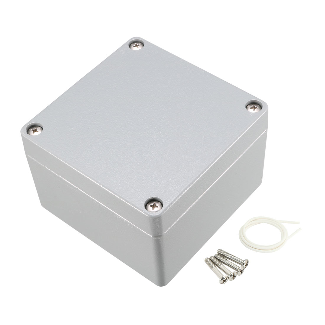 "4.7""x4.7""x3.2""(120mmx120mmx82mm) Aluminum Junction Box Universal Electric Project Enclosure"