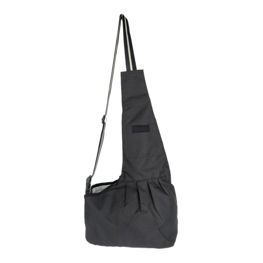 Small Dog Cat Carrier Bag Outdoor Tote Soft Shoulder Backpack Black L